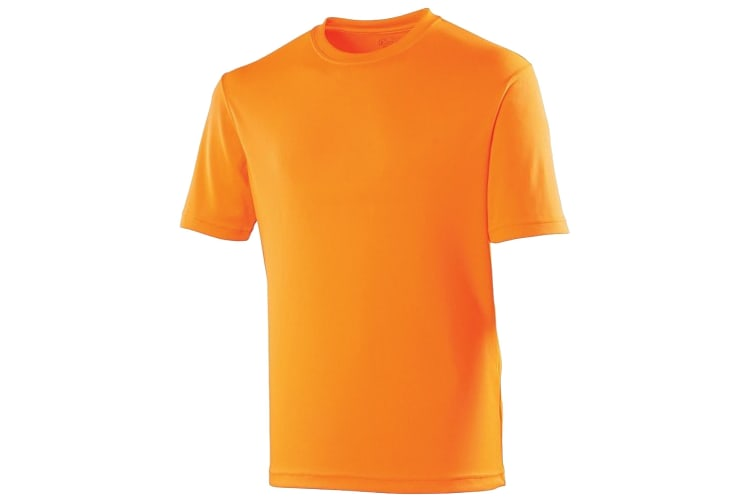 Just Cool Kids Unisex Sports T-Shirt (Electric Orange) (5-6)