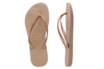 Havaianas Slim Thongs (Rose Gold)