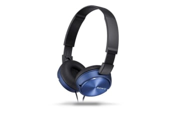 Sony MDR-ZX310AP Stereo Over-Ear Headphones - Blue