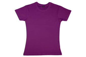 Nakedshirt Womens/Ladies Nancy Short Sleeve Cotton T-Shirt (Purple) (L)