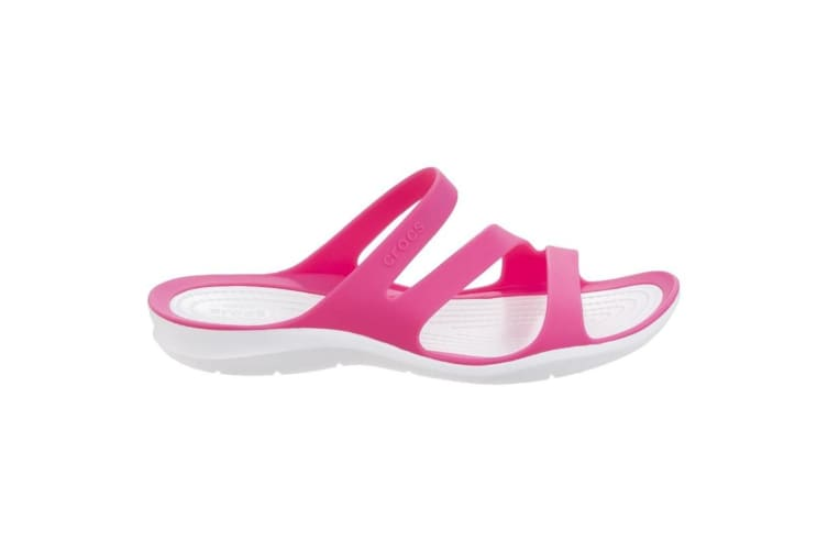 Crocs Womens/Ladies Swiftwater Slip On Sandals (Pink/White) (3 UK)