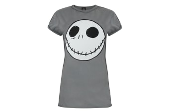 Nightmare Before Christmas Womens/Ladies Jack Reverse Seam T-Shirt (Grey)