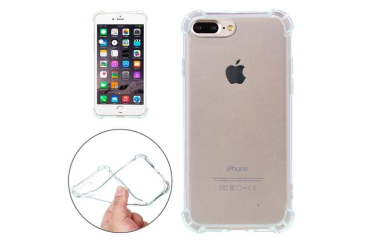 For iPhone 8 PLUS 7 PLUS Case Shockproof Grip Transparent Shielding Cover Green