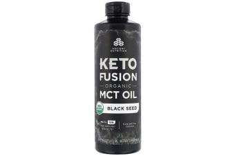 Dr. Axe / Ancient Nutrition Keto Fusion Organic MCT Oil Black Seed 473ml