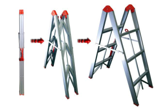 TRA 3 Step Collapsible Box Stick Ladder