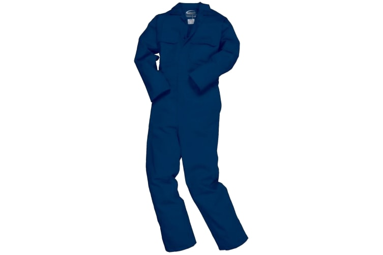 Portwest Mens Bizweld Flame Retardant Coverall / Workwear (Navy) (3XL x Long)