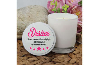 Personalised Scented Soy Candle 45hours Personalised Lid