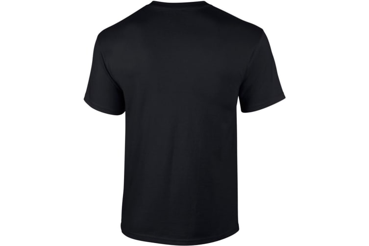 Gildan Mens Ultra Cotton Short Sleeve T-Shirt (Black) (L)