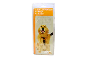 Pet Brands RAC 2 In 1 Car Harness (Assorted Colours) - ASRTD (Assorted)