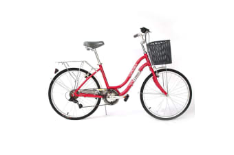 Trinx CUTE 3.0 City Bike 24 inch Shimano Gears 7-Speed [Color: Red]