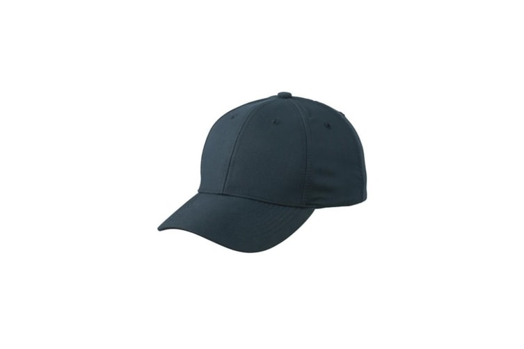 Myrtle Beach Adults Unisex 6 Panel Polyester Peach Cap (Iron Grey) (One Size)