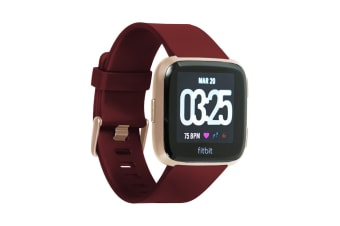 Fitbit Versa Smart Fitness Watch (Ruby, Rose Gold Aluminium)