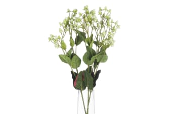 Hill Interiors Artificial Faux White Hypericum Spray (White) (One Size)
