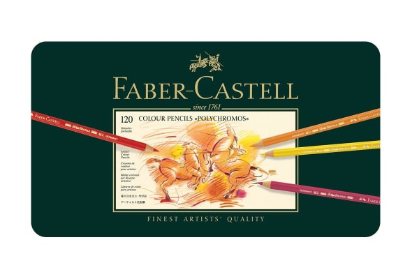 Faber-Castell Polychromos Pencils - 120 Assorted Colours (Tin Case)