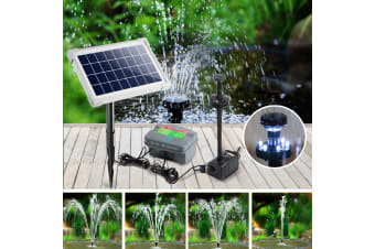 25W Solar Fountain Powered Water Pond Pump Battery Submersible