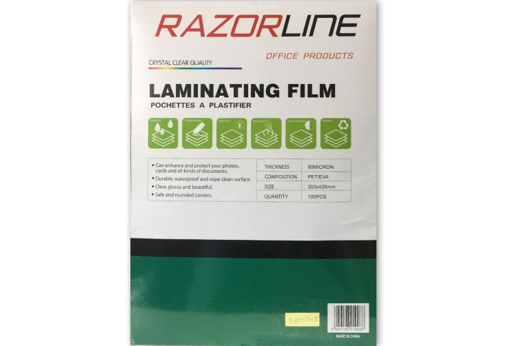 100pk A3 Laminating Film Pouches/Sheets 80Micron Protect/Safeguard for Laminator