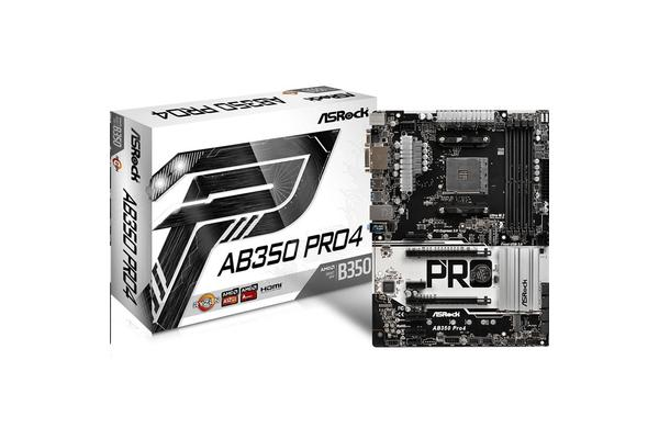 ASRock AB350 Pro4 ATX Form Factor For AMD Socket AM4