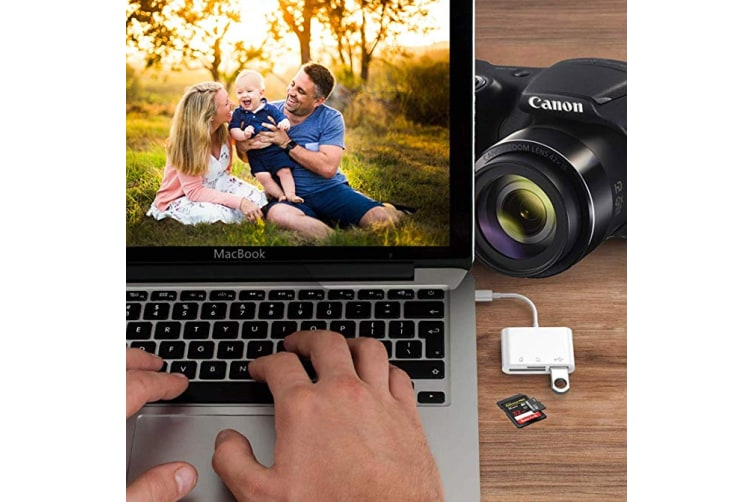 USB C SD Card Reader,Type C to Camera Memory Card Reader TF Micro SD Card 3  in 1 USB OTG Adapter Compatible with MacBook Pro, MacBook Air/iPad Pro