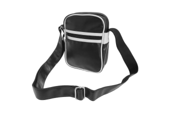 Bagbase Original Retro Shoulder Strap Cross Body Bag (Pack of 2) (Black/White)