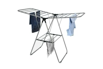 20 Rails Foldable Clothes Airer Dry Dryer Laundry Hanger Wash Winged Portable