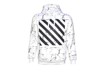 New Classic Unisex Adult Hoodie Pullover Casual Men's Sports Jumper White Black - White - White