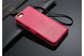 For iPhone 6 6S Wallet Case Elegant Luxury Leather Cover with Card Holder Rose
