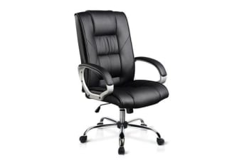 Executive PU Leather Office Computer Chair (Black)