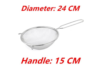 24cm Stainless Steel Flour Colander Sifter Oil Sieve Strainer Kitchen Tools Melbourne