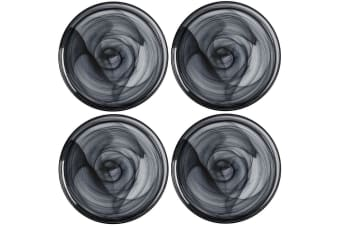 4x Maxwell & Williams 26cm Marblesque Dinner Serving Glass Dish Plate Food Black
