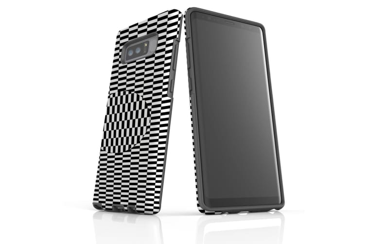 For Samsung Galaxy Note 8 Case  Shielding Cover  Illusion Squares