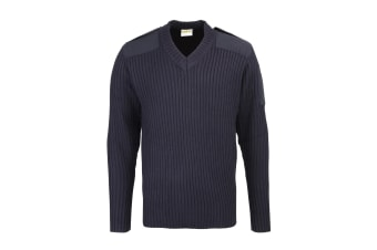 RTY Workwear Mens Security Style V-Neck Sweater (Navy)
