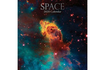 Space - 2020 Premium Square Wall Calendar 16 Month New Year Christmas Decor Gift