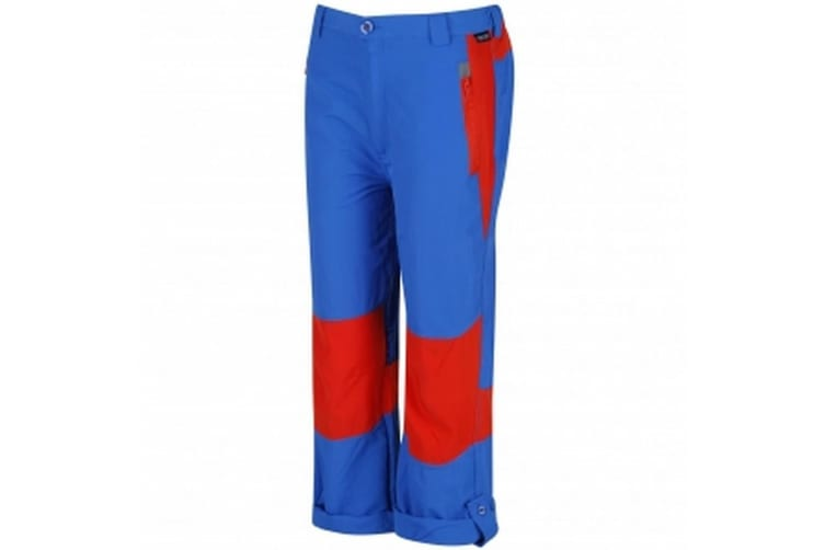 Regatta Great Outdoors Childrens/Kids Sorcer Mountain III Trousers (Sky Diver Blue/Amber) (9-10 Years)