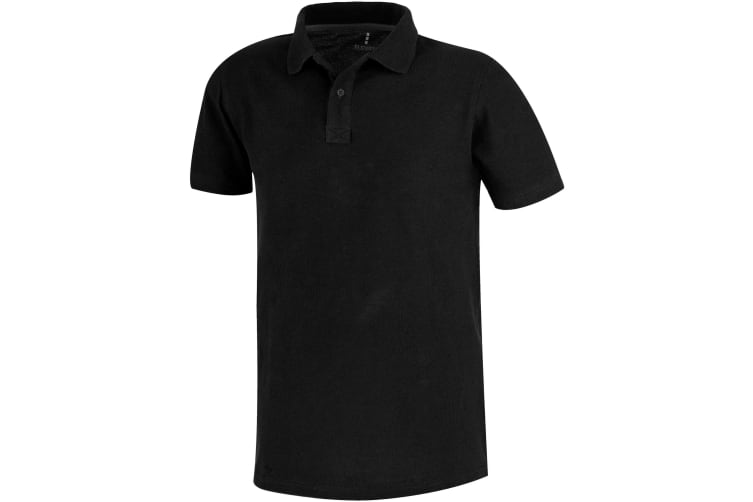 Elevate Primus Short Sleeve Polo (Solid Black) (M)