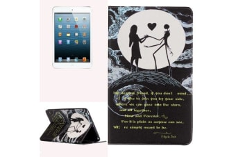 """For iPad mini 1 2 3 Case  """"Couple in Love"""" Durable Protective Leather Cover"""