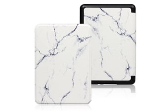 """Amazon All-New Kindle 10th Generation 2019 6"""" Flip Smart Leather Case Cover AU-WhiteMarble"""