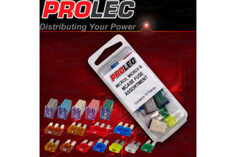 PROLEC 16 PIECE MICRO2 MICRO3 & MCASE MICROFUSE FUSE ASSORTMENT 12 24 VOLT NEW