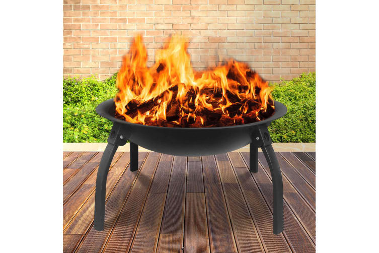 Portable Outdoor Fire Pit BBQ Camping Garden Patio  Fireplace 22""