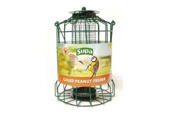 Supa Caged Peanut Bird Feeder (Green) (25cm)