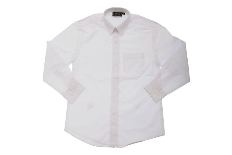 Boys/Childrens Long Sleeved School Shirt (White) (15-16 Years (To Fit Chest Up To 92 Cm))