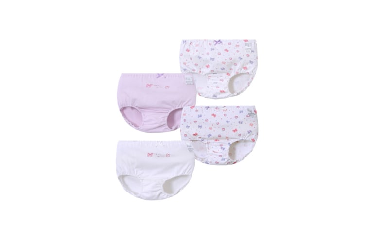 4Pcs Girls Toddler Cute Cotton Panties Underwear - 3 Purple 110Cm