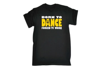 123T Funny Tee - Born To Dance Ballet - (3X-Large Black Mens T Shirt)