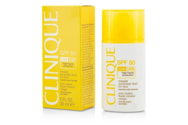 Clinique Mineral Sunscreen Fluid For Face SPF 50 - Sensitive Skin Formula (30ml/1oz)