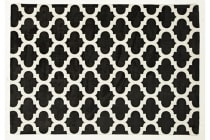 Trellis Stylish Design Rug Black