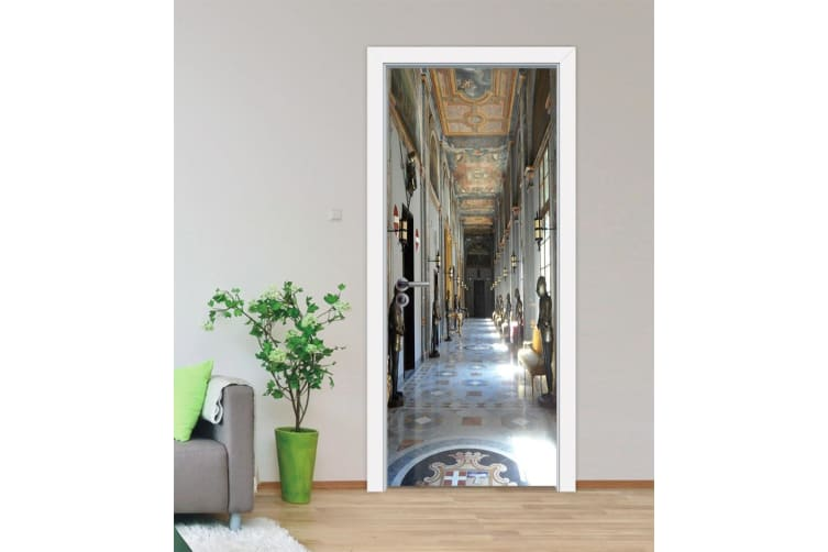 3D Ceiling Fresco The High Window Corridor Door Mural Woven paper (need glue), XL 205cm x 80cm (HxW)(81''x31'')