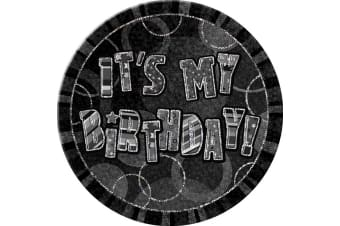 Unique Party 6 Inch Its My Birthday Giant Badge (Black) (One Size)