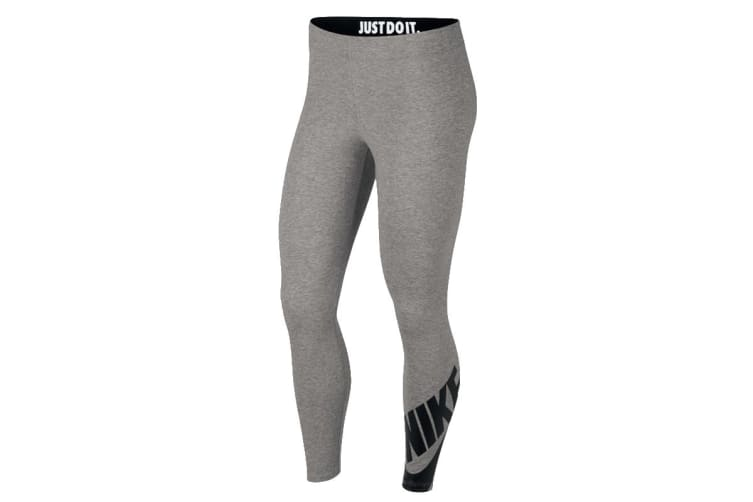 Nike Sportswear Leg-A-See 7/8 Women's Leggings (Dark Grey Heather, Size XS)