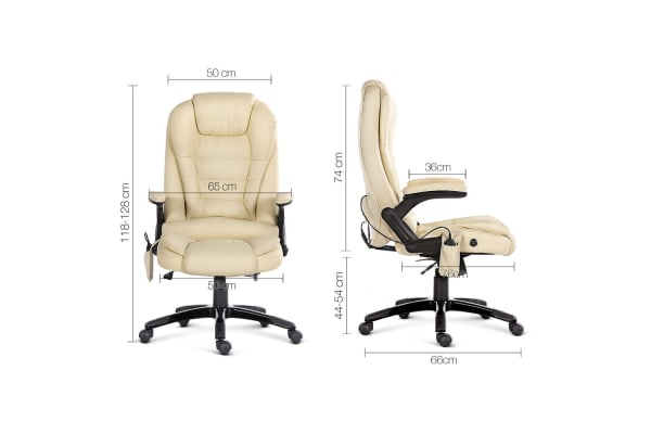 8 Point Mage Executive Pu Leather Office Chair Beige