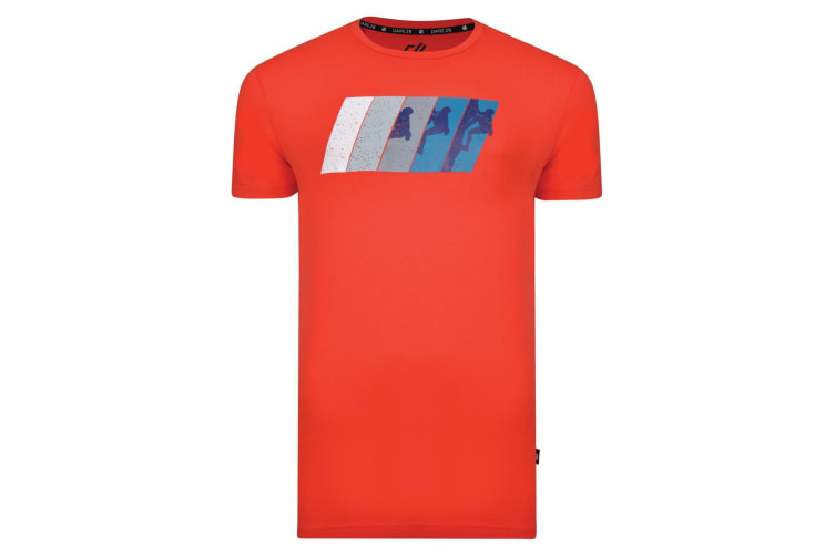 Dare 2B Mens Dynamism Graphic T-Shirt (Fiery Red) (XXL)