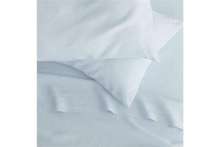 Belledorm 200 Thread Count Cotton Percale Deep Fitted Sheet (Pale Blue) (Superking)